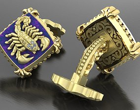 Zodiac signs Cufflinks Scorpion 3D printable model
