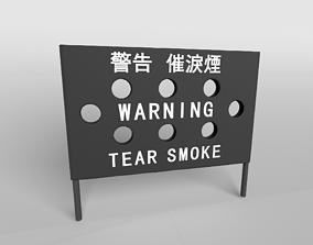 3D model Hong Kong Warning Flag v1 005