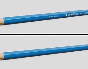 3D model low-poly pencil2B