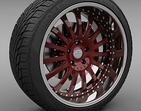 Savini Forged SV-4 Wheel and Tire 3D