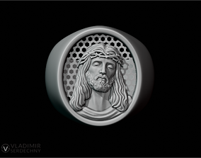 3D printable model Ring with Jesus
