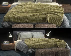 3D model Bed Flexform Adda