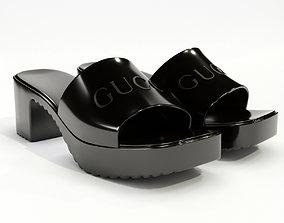 Rubber Slide Sandal 3D