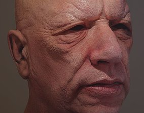 3D Head Model game-ready