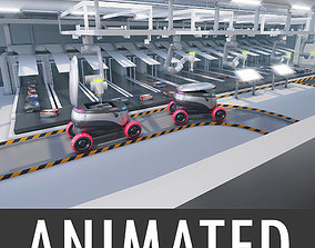 3D Warehouse robots Delivery Drone interior