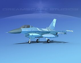 3D model Gen Dyn F-16A Falcon V30 Greece