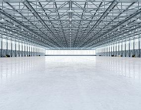 3D model Airplane Hangar Interior 4b
