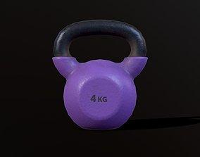 3D asset Kettlebell 4 kg