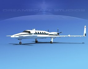 Beechcraft Starship 2000 T10 3D animated
