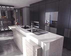 Modern Kitchen 3D animated