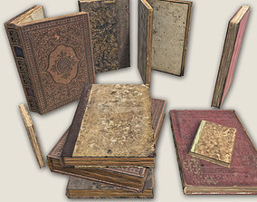 Aged Books GAME READY 3D asset