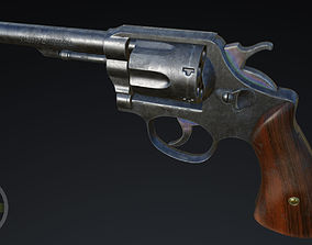 Revolver high poly Smith and Wession MP Victory model PBR