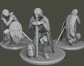 Knight Templar praying T1 3D printable model