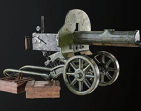 Machine Gun Maxim 3D asset