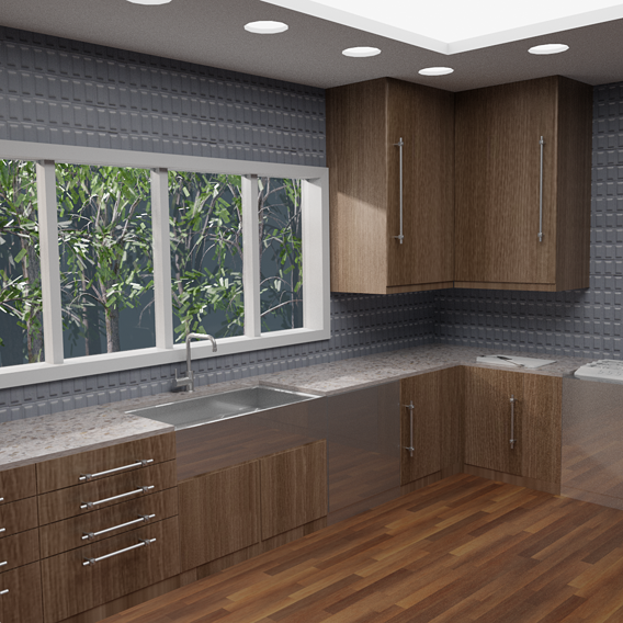 first time interior modeling(kitchen)