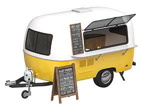 Food trailer 3D model food