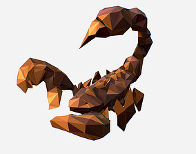 animated Animated Low Poly Art brown classical Scorpion 3d