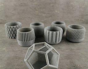 73 Flower pots for succulent plants 3D print model