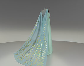 Royal Formal Gown with Dress and Cape 3D asset