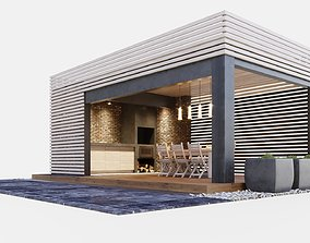 3D Gazebo with kitchen