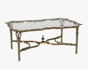 3D model Rectangular Cast Brass Cocktail Table