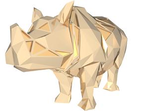Polygonal Asian Rhino Parametric 3D print model