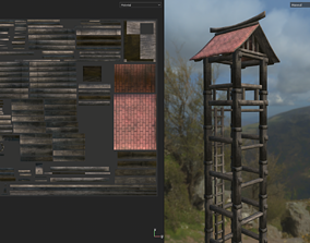 Asian Medieval Watchtower 3D model