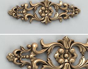 Carved decor horizontal 005 3D