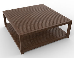 3D model Wooden Center Table
