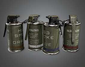 Military Smoke Grenade - MLT - PBR Game Ready 3D asset