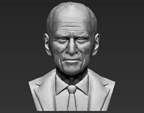 Prince Philip bust 3D printing ready stl obj