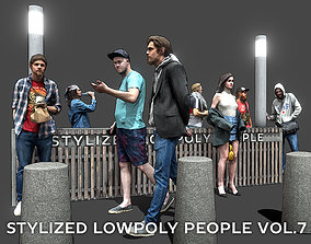 Stylized Lowpoly People Casual Pack Volume 7 3D model