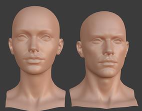 3D model Character - Female Male Head Base Mesh