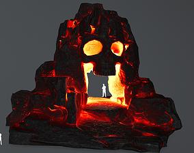 lava skull cave 3D asset