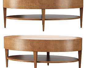 Catalina Oval Coffee Table by HBF furniture 3D asset
