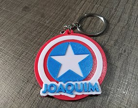 Captain America keychain personalized for 3d printing