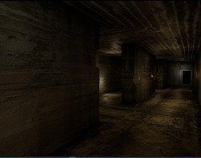 Old Concrete Wall 01 07 B 3D asset