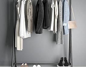 clothes hanger 3D model coat