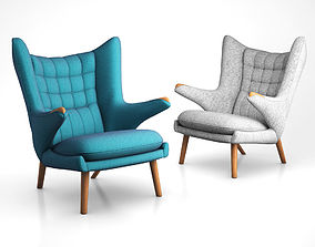 AP19 lounge chair by Hans Jorgen or the Papa 3D model 3