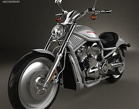 3D model Harley-Davidson VRSCA V-Rod 2002