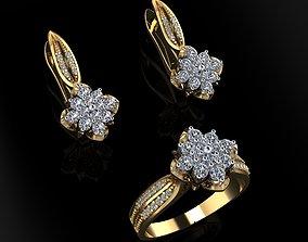3D print model Ring and Earrings 159