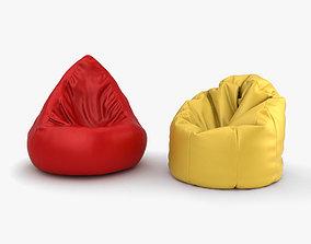 armchair 3D model Bean Bag