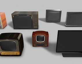 TV sets histiry pack 3D asset