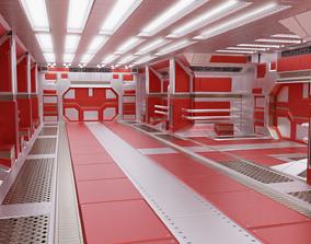 Sleek Sci-fi Corridor 3D model