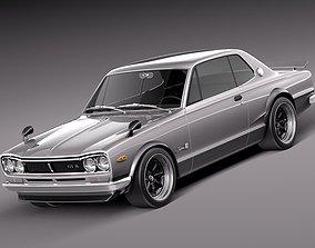 3D model Nissan Skyline 1968-1972