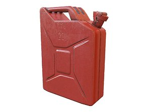 Red Jerry Can 3D asset