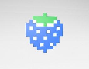 3D model Pixel Strawberries v1 005