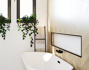 Freestanding Bathtub - BellaCasa Tub 3D model realtime