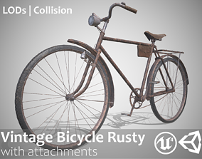 Customizable Vintage Bicycle Rusty - Updated for 3D model