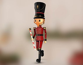 3D Nutcracker New Year Model